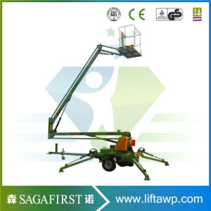 200kg 10m Mobile Towable Aerial Lifts for Sale pictures & photos