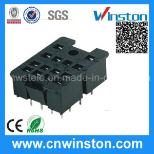 General Miniature Black Color Electro-Magnetic Industrial Relay Socket with CE pictures & photos