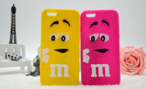 M & M Silicone Mobile Case for iPhone 6s 6plus Cell Phone Accessories (XSR-019) pictures & photos
