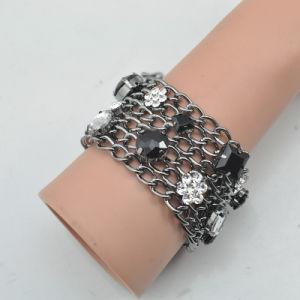VAGULA Fvagula Ashion Gun Metal Rhinestone Crystal Bracelet E6384 pictures & photos