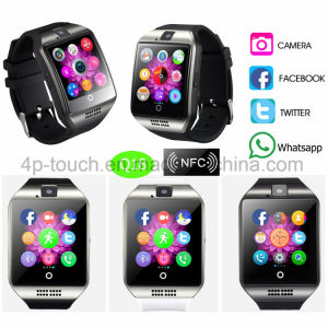 2017 New Fashion Smart Watch Phone with Curved Screen Q18 pictures & photos