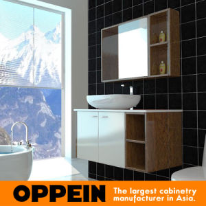Oppein Classic White&Brown Wooden Bathroom Cabinet (OP15-121B) pictures & photos