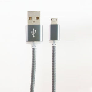 Cell Phone Data Cable Universal PVC and Nylon Braided Cable pictures & photos