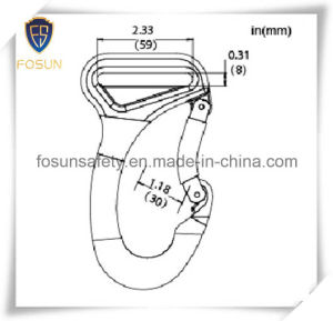 Big Forged Alloy Snap Hooks of Plastic-Covering pictures & photos