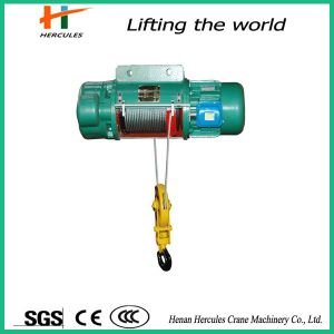 Heavy Capacity Electric Wire Rope Hoist with Hook pictures & photos