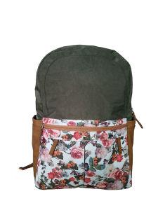 Flower Pattern Polyster Shoulder Bags, Fashion Backpack