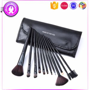 12 PCS Cosmetic Synthetic Hair Makeup Brush with PU Bag pictures & photos