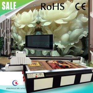 High Speed LED Wide Format UV Flatbed Printer for Wood/ Tiles/ Porcelain/ MDF pictures & photos
