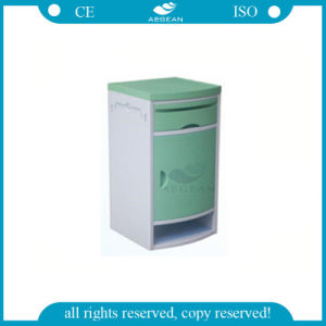 Green Plastic with Doors Hospital Side Table Bed Drawers (AG-BC006C) pictures & photos