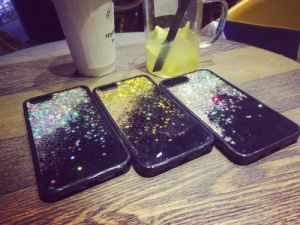 Cell Phone Accessories Quicksand Stars Liquid Shiny Glitter Cases pictures & photos