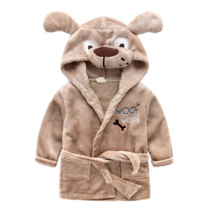 Wholesale Kids Animal Bathrobes Boy Cloths Winter Sleeping Wear pictures & photos