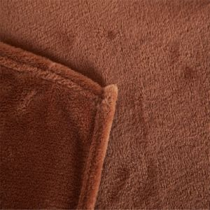 100% Polyester Chocolate Color 50X60 Inch Soft Plush Mink Knee Blanket pictures & photos