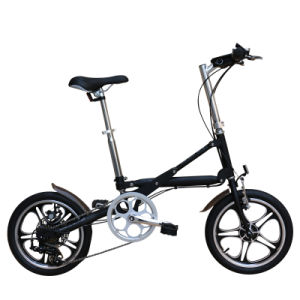 16inch Aluminum Alloy 7 Speed One Second Folding Bike (YZBS-7-16) pictures & photos