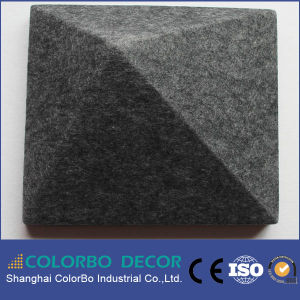 Recording Studio Soundproofing Wall 3D Polyester Fiber Acoustic Panel pictures & photos