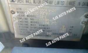 Great Wall Cc1031PS78 Engine Gw2.5TCI Vin Lgwdbc172cc819430 pictures & photos
