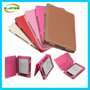 Classical Lichee Grain Leather Case for Kindle 4 pictures & photos