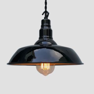 Black Enamel Industrial Pendant light for Modern Decoration