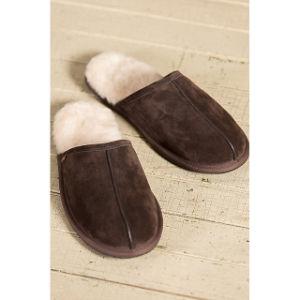 Men′s Sheepskin Scuff Sheepskin Slippers pictures & photos