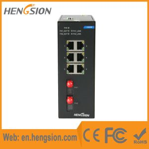 6 Megabit Ethernet Port Industrial Network Switch with 2 Fiber pictures & photos