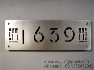Laser Cut Stainless Steel House Sign pictures & photos