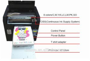 Byc168 Digital T-Shirt/Cloth/Textile DTG Printer (A3-Dark&Light t-shirt) pictures & photos