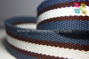 38mm Striped Cotton Webbing Canvas Tape for Men Belt pictures & photos
