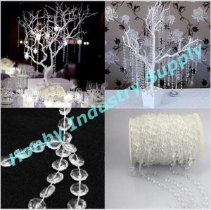 Crystal Clear Acrylic Beaded Garland Strands for Wedding Party Decoration