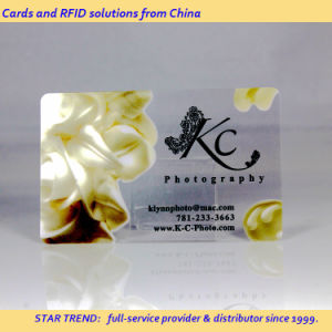 Crystal Clear Business Card Made of Thin Transparent PVC pictures & photos