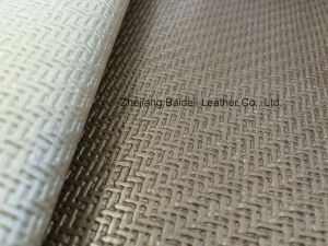 Weave Pattern PVC Sofa Artificial Leather pictures & photos