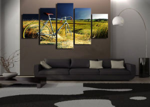 HD Printed Vintage Bicycle in The Storm Painting Canvas Print Room Decor Print Poster Picture Canvas Mc-024 pictures & photos