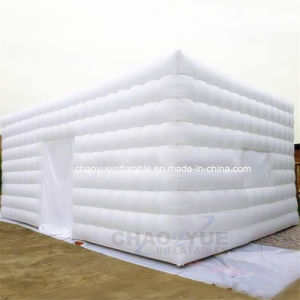 New White Airtight Inflatable Cube Tent with Ce Blower pictures & photos