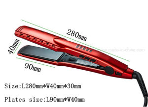 Salon Professional Mch Tourmaline Ceramic Ion Generator Hair Flat Iron with LED pictures & photos