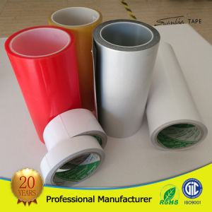 Red Film Liner Solvent Double Side/Sided Pet Tape pictures & photos