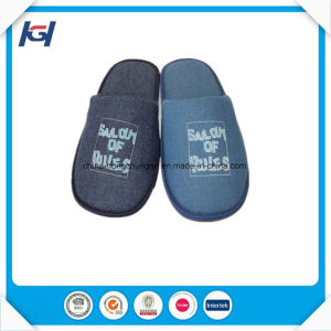 Wholesale Low Price Soft Men′s Velvet Sleeping Slippers pictures & photos