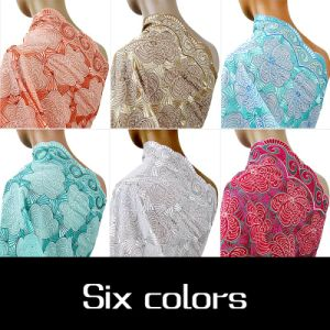 China Supplier Peach Color Swiss Voile Lace for Wedding Dress pictures & photos
