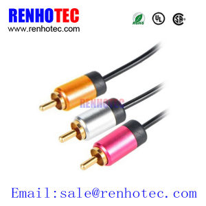 High Quality 3RCA Audio Video AV Cable RCA Cable pictures & photos