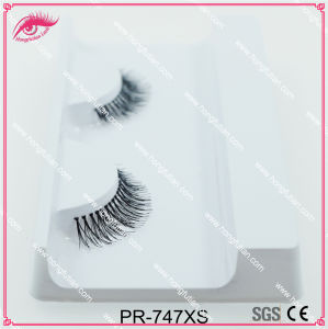 Hot Sale Fake Eyelash Wholesale Human Hair Lashes 747style pictures & photos