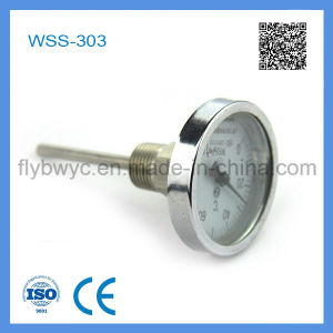 Industrial Usage Stainless Steel Dial Axial Bimetal Thermometer pictures & photos