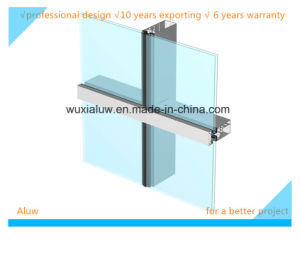 Colorful Glass Semi-Visible Curtain Wall pictures & photos