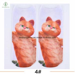 Europe New Factory 3D Cat Printed Cartoon Custom Boat Socks pictures & photos