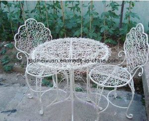 Iron Tables and Chairs, Outdoor Balcony, Leisure Tables and Chairs Can Tear Open Outfit Balcony Park Chairs a Set of Tea Table (M-X3179) pictures & photos