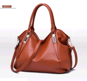 Brand New Women Solid Hand Bag PU Leather Large Capacity Female Handbags (BDMC106) pictures & photos