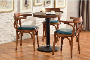 New Design Soild Wood Restaurant Dining Table and Chair Set (LL-C086) pictures & photos