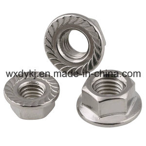 DIN 6923 Stainless Steel 304 A2-70 Hexagon Flange Nut pictures & photos
