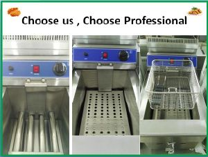 Popular Kitchen Equipment Stainless Steel Commercial Standing Gas Fryer pictures & photos
