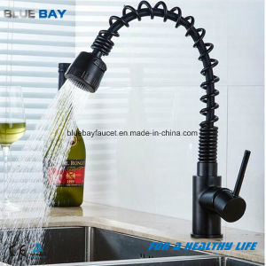 Blue Bay European Deck Mounted Black Pull out Taps Kitchen Mixer Tap pictures & photos