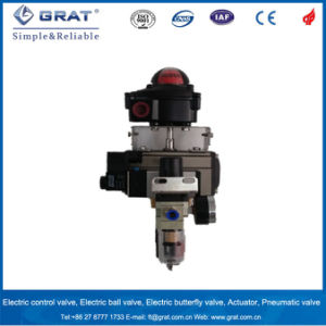 Stainless Steel 3 Way Pneumatic Ball Valve with Limit Switch pictures & photos
