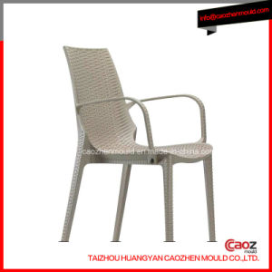 Plastic Chair Mold with Rattan/Arm Design