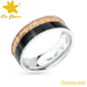 Str-047 Hot Sale Rose Gold Stainless Steel Ring