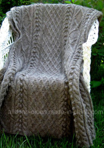 Custom Vintage New Design Hand Knit Blanket Throw Acrylic Merino pictures & photos
